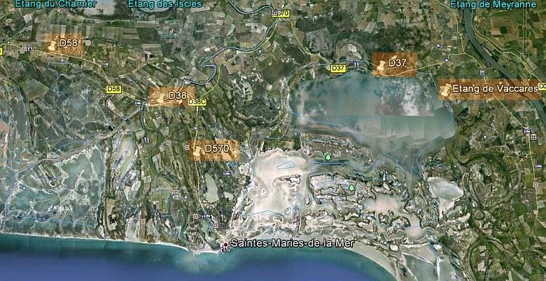 Camargue Karte.Reisen Frankreich Alpen Süden Camarque